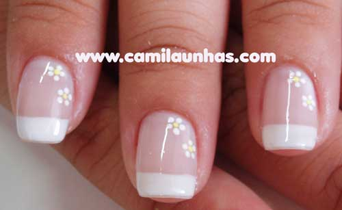 decorar unha branca: vocês, vários modelos de unhas decoradas, muito simples de se fazer