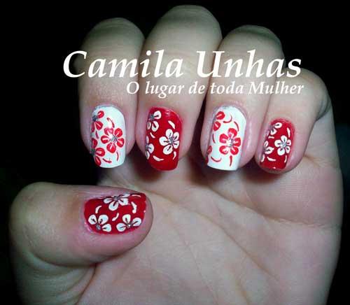 decoracao em unha branca : decoracao em unha branca:Dois modelos de unhas decoradas enviadas pela Bruna – Camila Lucena