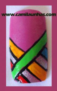 Unha decorada jogo de cores
