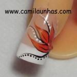 francesa com flor laranja4
